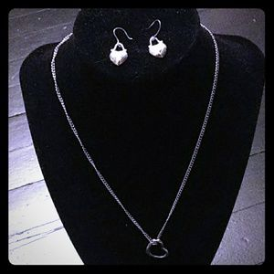 Jewelry - Silver Heart 2 piece Jewelry Set